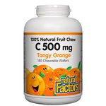 Natural Factors C 500mg 100% Natural Fruit Chew Tangy Orange Chews