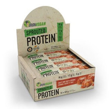 Iron Vegan Sprouted Protein Bar Sweet & Salty Caramel 12 x 64g | SKU : IRO-1006-002