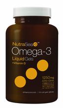 NutraSea+D Omega-3 Liquid Gels + Vitamin D (EPA + DHA 1250mg + 1000IU Vit D) 100 soft gels | 880860005458