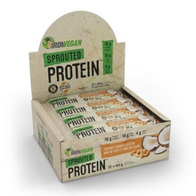 Iron Vegan Sprouted Protein Bar Coconut Cashew Cluster 12 Pack | 837229007981