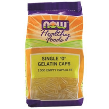Now Foods Empty Gelatin Size 0 Capsules   733739051509