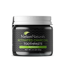 Nelson Naturals Activated Charcoal Peppermint Toothpaste 93g | 854178000108