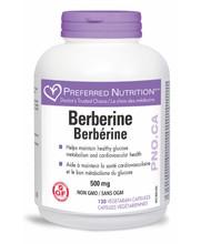 Preferred Nutrition Berberine 500mg 120 Vegetarian Capsules || 628826005698