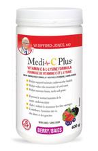 W. Gifford-Jones MD Medi-C Plus Vitamin C & L- Lysine Formula with Magnesium Ascorbate - Berry 600g | 628826005803