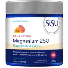 Sisu Relaxation Magnesium 250 - Bisglycinate & Citrate Powder - Honey Grapefruit 133g | 777672011831
