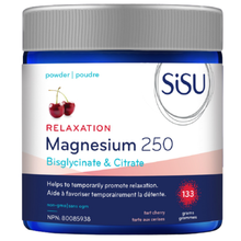 Sisu Relaxation Magnesium 250 - Bisglycinate & Citrate Powder - Tart Cherry 133g