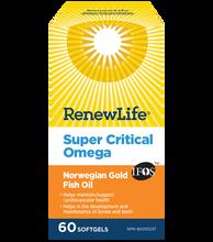 Renew Life Super Critical Omega Norwegian Gold Fish Oil 60 Softgels | 631257154071