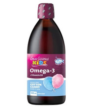 Sea-Licious Kids Omega 3 With Vitamin D3 - Cotton Candy 500 ml | 884288860422