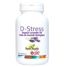 New Roots Herbal D-Stress Organic Lavender Oil 30 soft gels   628747120531