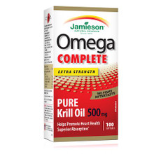 Jamieson Omega Complete Extra Strength pure Krill 500 mg - 100 softgels | 064642078445