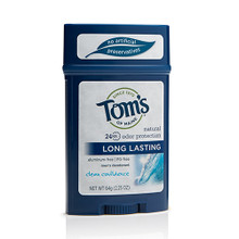 Tom's of Maine Men's Long Lasting Clean Confidence Wide Deodorant