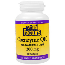 Natural Factors Coenzyme Q10 200mg Softgels | 068958207223