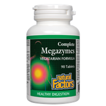 Natural Factors Complete Megazymes Vegetarian Formula Tablets | 068958017006
