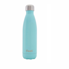 S'well Bottle Satin Insulated Stainless Steel Water Bottle Turquoise Blue | 814666021244