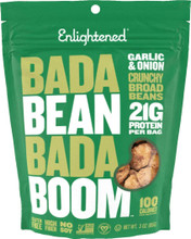 Enlightened Bada Bean Bada Boom Crunchy Broad Beans 6 x 85g Bags - Garlic & Onion | 852109004287