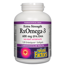 Natural Factors RxOmega-3 Extra Strength 600mg 120 Enteripure Softgels | 068958035499