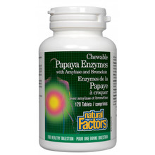 Natural Factors Papaya Enzymes with Amylase and Bromelain chews | 068958017495