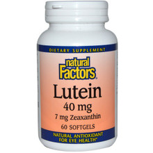 Natural Factors Lutein 40mg Softgels | 068958010359