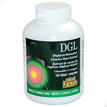 Natural Factors DGL Deglycyrrhizinated Licorice Root 400mg 180 chewable Tablets | 068958045078