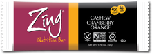Zing Nutrition Bar Cashew Cranberry Orange | 855531002104