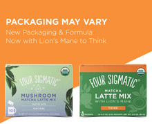 Four Sigmatic Matcha Latte Mix with Lion's Mane - label change | 816897021055