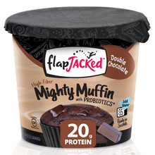 FlapJacked Mighty Muffins Mix with Probiotics Gluten-Free 55g Double Chocolate | 850171005157