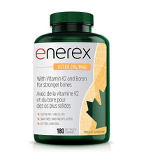 Enerex Osteo Cal:Mag 180 soft tablets  | 628557181807 New label Image