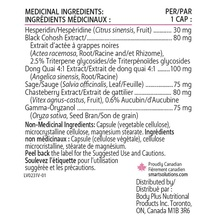 Smart Solutions Lorna Vanderhaeghe Menosmart Plus 120 Veg Capsules | 871776000231 | Nutritional Information