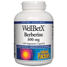 Natural Factors WellBetX Berberine 500mg 120 Vegetarian Capsules | 068958035444