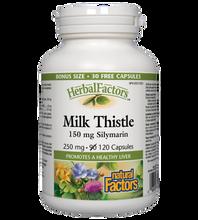 Natural Factors HerbalFactors Milk Thistle 150mg Silymarin 120 Capsules |  068958081816