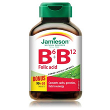 Jamieson B6, B12 and Folic Acid Bonus 90 + 20 Tablets | 064642053268