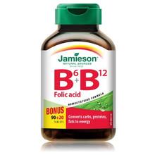 Jamieson B6, B12 and Folic Acid Bonus 90 + 20 Tablets | 064642053268