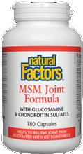Natural Factors MSM Joint Formula Capsules | 068958026961