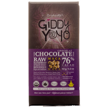 Giddy YoYo Maca 76% Certified Organic Dark Chocolate Bars 1 Bar | 838206000131