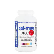 Prairie Naturals Cal-Mag-Force 2:1 with Vitamin D3 & Zinc 180 Tablets | 067953001331