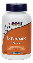 Now Foods L-Tyrosine 500mg 120 Capsules | 733739801623