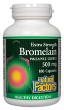 Natural Factors Bromelain Extra Strength Pineapple Source 500mg Capsules | 068958017365
