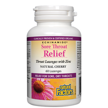 Natural Factors Echinamide Sore Throat Relief Natural Cherry 60 Lozenges | 068958016863