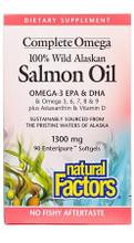 Natural Factors Complete Omega 100% Wild Alaskan Salmon Oil Omega-3 EPA & DHA 1300mg 90 Softgels | 068958022666