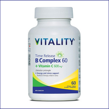 Vitality Time Release B Complex 60 + Vitamin C 600mg 60 Tablets | 062044229663