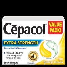 Cepacol Extra Strength Sucrose Free Honey Lemon Lozenges | 0363824903729