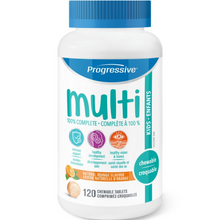 Progressive Chewable MultiVitamins for Kids Natural Orange Flavour 120 Chewable Tablets | 837229000357