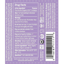 Dr. Bronner's Organic Hand Sanitizer Lavender | Drug Facts