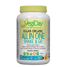 VegiDay Vegan Organic All in One Shake & Go - French Vanilla 860g | 628235330312