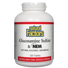 Natural Factors Glucosamine Sulfate and NEM Natural Eggshell Membrane Tablets | 068958026893