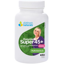 Platinum Naturals Super Easymulti 45+ Multivitamin for Women 60 Softgels | 773726030520