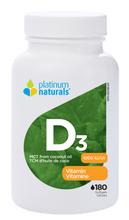 Platinum Naturals Vitamin D3 1000IU 180 Softgels | 773726031404