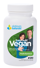 Platinum Naturals Easymulti Vegan - Multivitamin with Flax Seed Oil 120 Vcaps | 773726031329