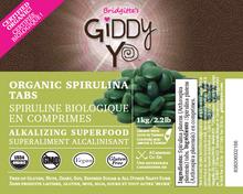 Giddy YoYo Spirulina Tablets (Taiwan) Certified Organic 1 kg | 838206001336