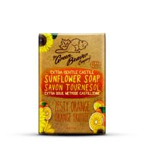 Green Beaver Extra Gentle Castile Sunflower Bar 90 grams Zesty Orange | 834639009635